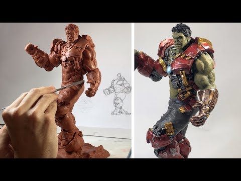 SCULPTING HULK Busting out of Hulkbuster & The Infinity Gauntlet | Avengers End Game