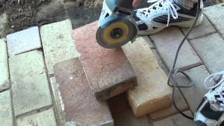 Video How to Easily Cut Bricks With a Portable Angle Grinder MP3, 3GP, MP4, WEBM, AVI, FLV November 2017