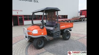 7. 776380  KUBOTA RTV900-EU UTV 4x4 UTILITY VEHICLE DIESEL W/TIPPER 2007 ORANGE