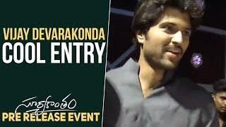 Vijay Devarakonda Cool Entry @ Suryakantham Pre Release Event