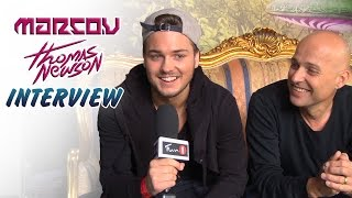 """★  Watch the 3D version of this interview here: http://youtu.be/cSAzRHdSJUk______________________________Tomorrowland interview with father and son - MARCO V & THOMAS NEWSON! Buy Marco's new single """"We Will Be"""" here: http://smarturl.it/IC178iTunes and Thomas' new single """"Summer Vibes"""" here: http://bit.ly/SummerVibes_iT______________________________► MARCO V:https://FB.com/marcovdjhttps://twitter.com/MARCOV► THOMAS NEWSON:https://FB.com/djthomasnewsonhttps://twitter.com/ThomasNewson► FUN 1 TV:https://FB.com/FUN1TVhttps://twitter.com/funonestation"""