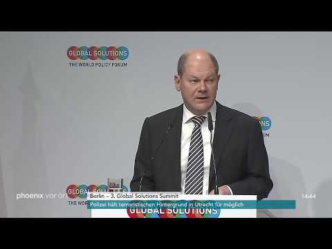 Vizekanzler Olaf Scholz während des 3. Global Solutio ...