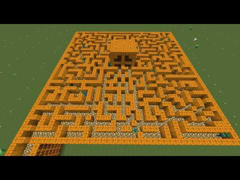 Halloween Zombie Maze Minecraft Project