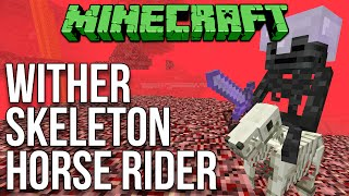 Minecraft 1.9: Wither Skeleton Horse Rider Mob (Survival) Tutorial
