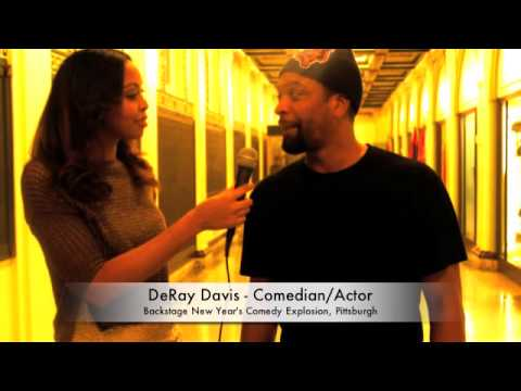 Deray Davis Backstage NYE Comedy Explosion 2012 Pittsburgh