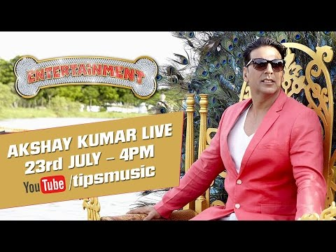ENTERTAINMENT - Callout for all Akshay Kumar Fans..!! Your favourite superstar has been practising a song & is coming to Entertain you. Watch his record it live today @ 4pm only on Tips Music channel on YouTube....