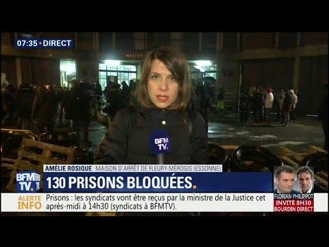 Colère des surveillants pénitenciers: 130 prisons toujours bloquées