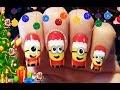 Christmas minions nail art - Karácsonyi Minion körmök
