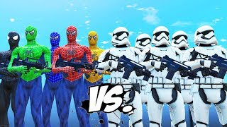 Video STORMTROOPERS ARMY VS SPIDER-MAN, BLUE SPIDERMAN, GREEN SPIDERMAN, YELLOW SPIDERMAN, BLACK SPIDERMAN MP3, 3GP, MP4, WEBM, AVI, FLV Desember 2018