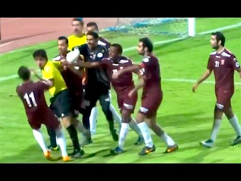 Ozzy Man Commentates on Soccer Players Fighting With