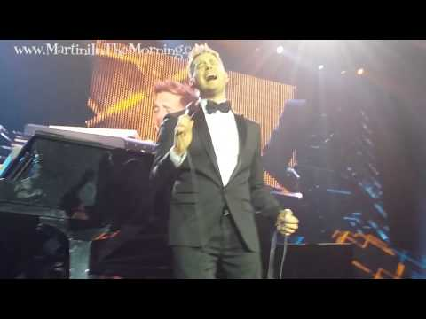 Michael Buble clips from Front Row at London's O2 Arena - Dec 15 2014