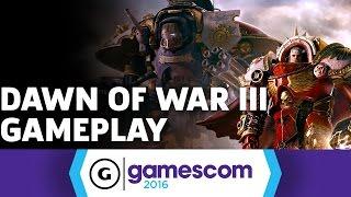 Space Marines Crushing Eldar in Dawn of War III Gameplay by GameSpot