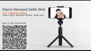 Original Xiaomi Foldable Bluetooth Monopod Tripod Selfie Stick - Hold Xiaomi MAX 6.44