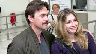 Download Lagu EXCLUSIVE: Dougray Scott and wife Claire Forlani arriving at Cannes airport Mp3