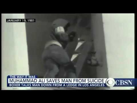 Remember when Muhammad Ali talked a suicidal man off of a ledge in Los Angeles?