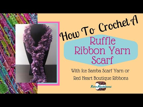 How To Knit Pirouette Yarn by Patons Yarns - YouTube