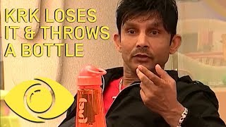 KRK Throws A Bottle At Rohit! - Bigg Boss India | Big Brother Universe