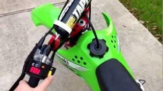 6. 2012 klx110 full Yoshimura exhaust system, kx65 race forks.