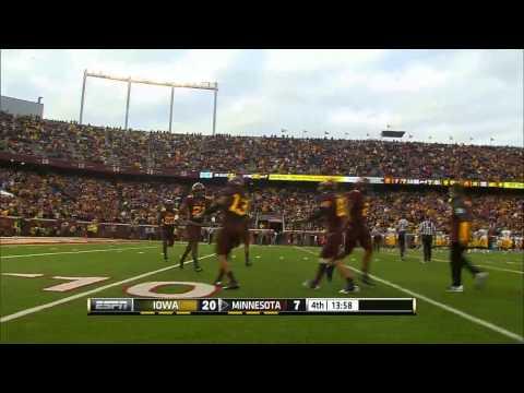 Brock Vereen interception vs Iowa 2013 video.
