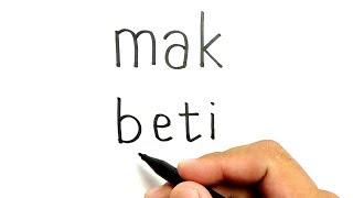 WOW, cara menggambar kata MAK BETI menjadi gambar MAK BETI dan BETI