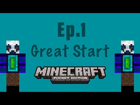Minecraft PE Survival Let's Play Ep.1 | Great Start