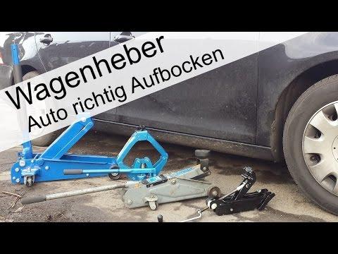 Auto richtig Aufbocken welcher Wagenheber ist der richtige (Zuschaueranfrage)