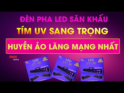 Đèn LED thanh màu tím UV phản quang huyền ảo trang trí sân khấu