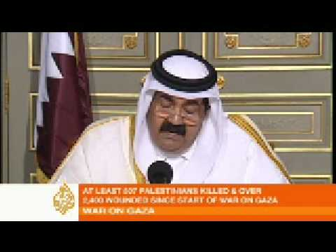 Emir of Qatar calls for Arab summit on Gaza - 04 Jan 0
