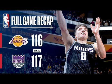 Video: Full Game Recap: Lakers VS Kings | Bogdanovic 3 Wins It At The Buzzer