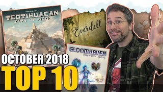 Top 10 hottest board games: October 2018
