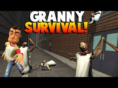 RUNNING FROM ZOMBIE GRANNY?! - Garry's Mod Gameplay (Gmod Roleplay) - Granny Survival! (видео)