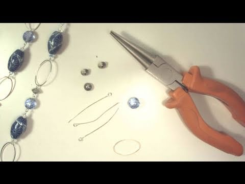 Assemblare una collana con catena metallica (bijoux tutorial)