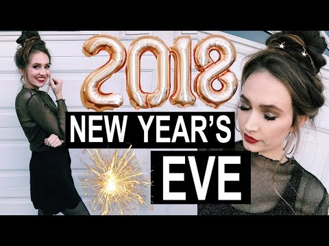 NEW YEAR'S EVE MAKEUP, HAIR, OUTFIT! 2018