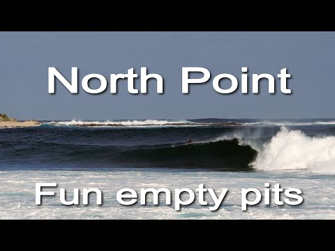 Fun barrels go unridden at the notorious NORTH POINT, Western Australia