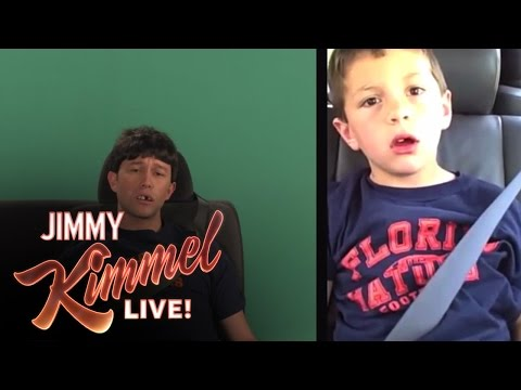 "Joseph Gordon-Levitt Recenacts ""David After Dentist"" from memory, almost perfectly, for Jimmy Kimmel Live"