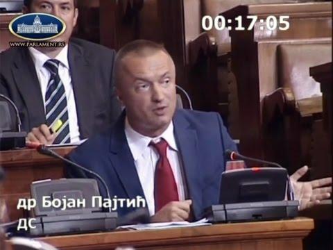 Пајтић у Скупштини: Вучић на власти већ пету годину, суноврат државе је наследио од себе