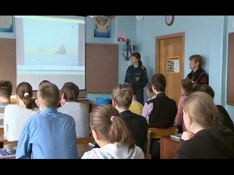 Сотрудники МЧС в преддверии весенних школьных каникул проводят профилактические занятия в образовательных учреждениях