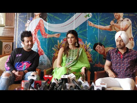 Diljit Dosanjh, Kriti Sanon & Varun Sharma In Delhi | Arjun Patiala Press Conference | Dinesh V |