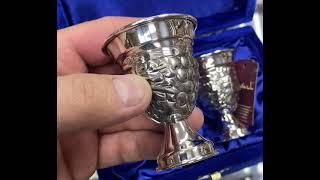 Стопка серебряная кубачинская