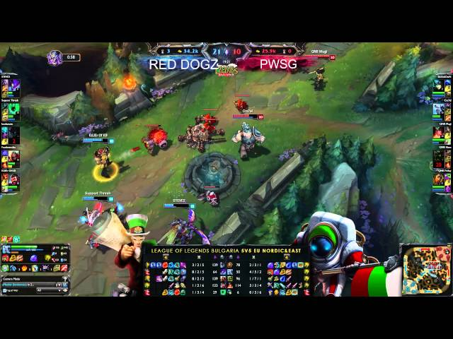 LeagueOfLegends-BG 5VS5 EUNE #26 Red Dogs vs PWSG