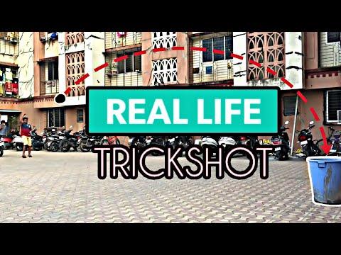 REAL LIFE TRICK SHOT | DUDE PERFECT JR