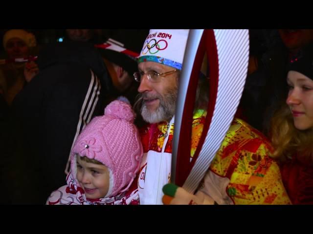 Эстафета Олимпийского огня в Томске