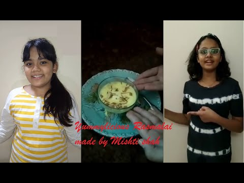 QUICK  & YUMMILICIOUS RASMALAI BY GUEST COOK MISHTI SHAH / MISHTY'S SAVOUR GRACIAS / TINY CHEF