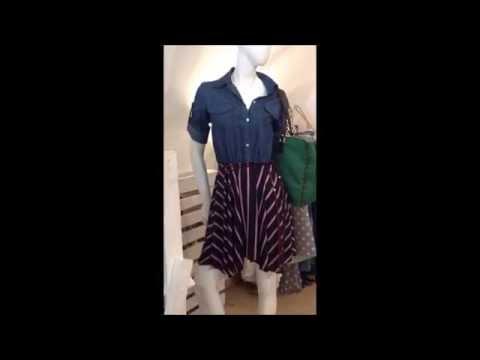 Abito Corto Jeans Crepe Denim Blue Kimika Raffaella boutique