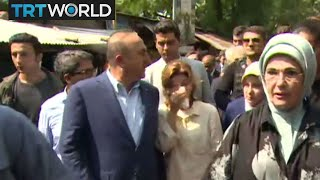 Video Myanmar Violence: Turkey's first lady delivers aid to refugees MP3, 3GP, MP4, WEBM, AVI, FLV September 2017