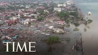 Video Drone Footage Shows The Devastating Aftermath Of The Tsunami In Palu, Indonesia | TIME MP3, 3GP, MP4, WEBM, AVI, FLV Januari 2019