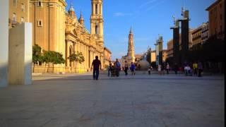 Aragosa Spain  city photos gallery : Time lapse in Zaragosa, Spain