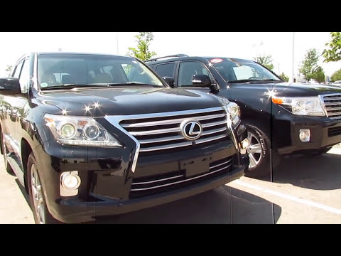 2013 Toyota Landcruiser vs 2013 Lexus LX 570 vocal video with differences Review