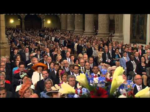 Mass Te Deum   Cathedral Notre Dame Luxembourg  2015     PART 1 , DEEL 1