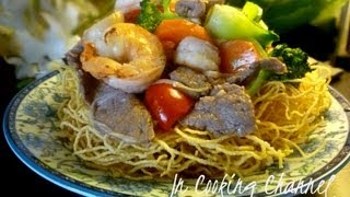 Jn - How to Make Crispy Egg Noodles with Assorted Meats&Vegetables (EXCLUSIVE)
